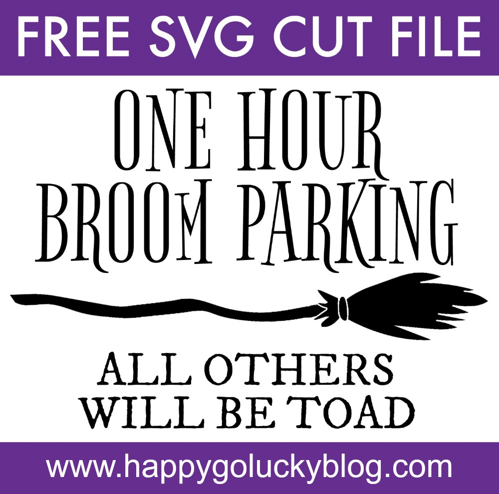 Diy Halloween Signs With Free Witch Svg Cut Files Happy Go Lucky