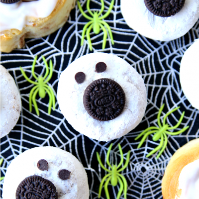 Ghost Donuts Halloween Breakfast Treats