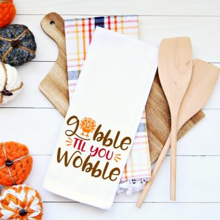 Thanksgiving SVG Cut File – Gobble Til You Wobble