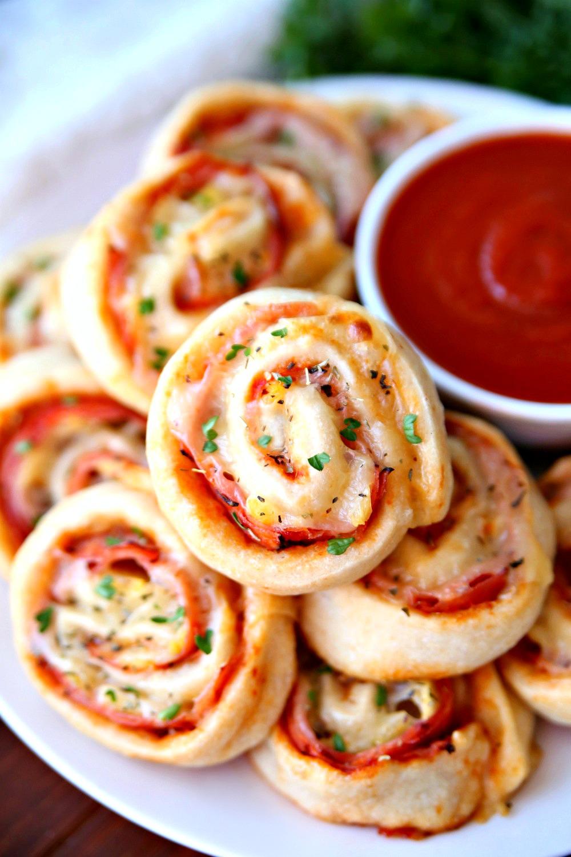 Hawaiian Pizza Pinwheels Recipe