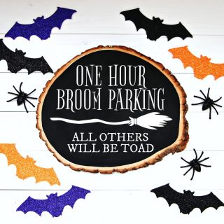 DIY Halloween Signs with Free Witch SVG Cut Files