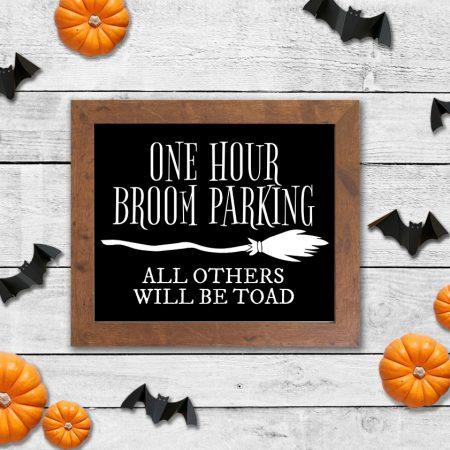 One Hour Broom Parking