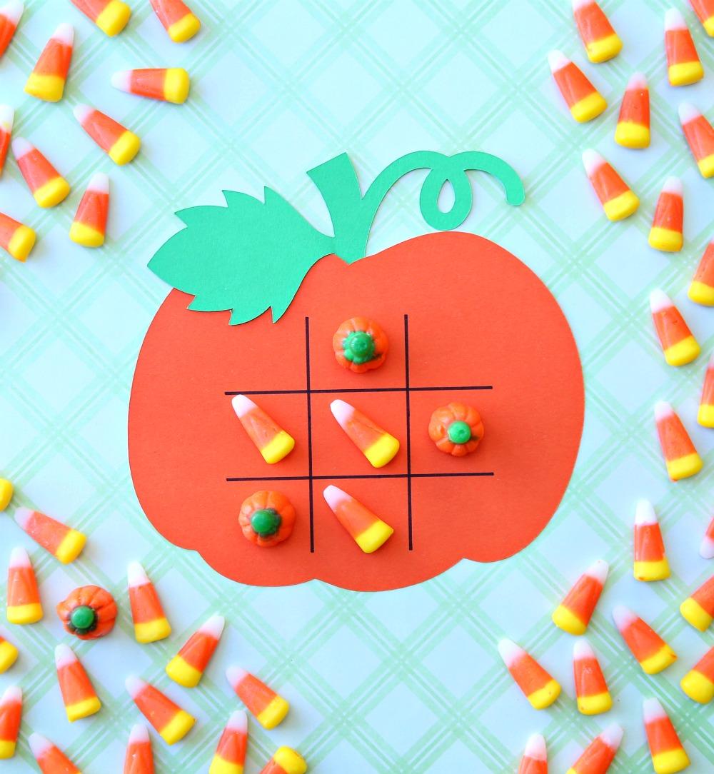 Pumpkin Tic Tac Toe Halloween Game Cricut Craft