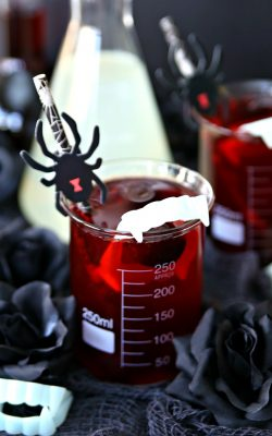 Vampire Bite Spike Black Cherry Lemonade Halloween Cocktail