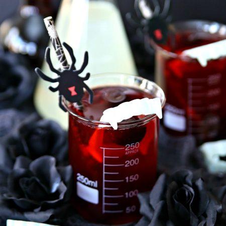 Vampire Bite Spike Black Cherry Lemonade Halloween Cocktail
