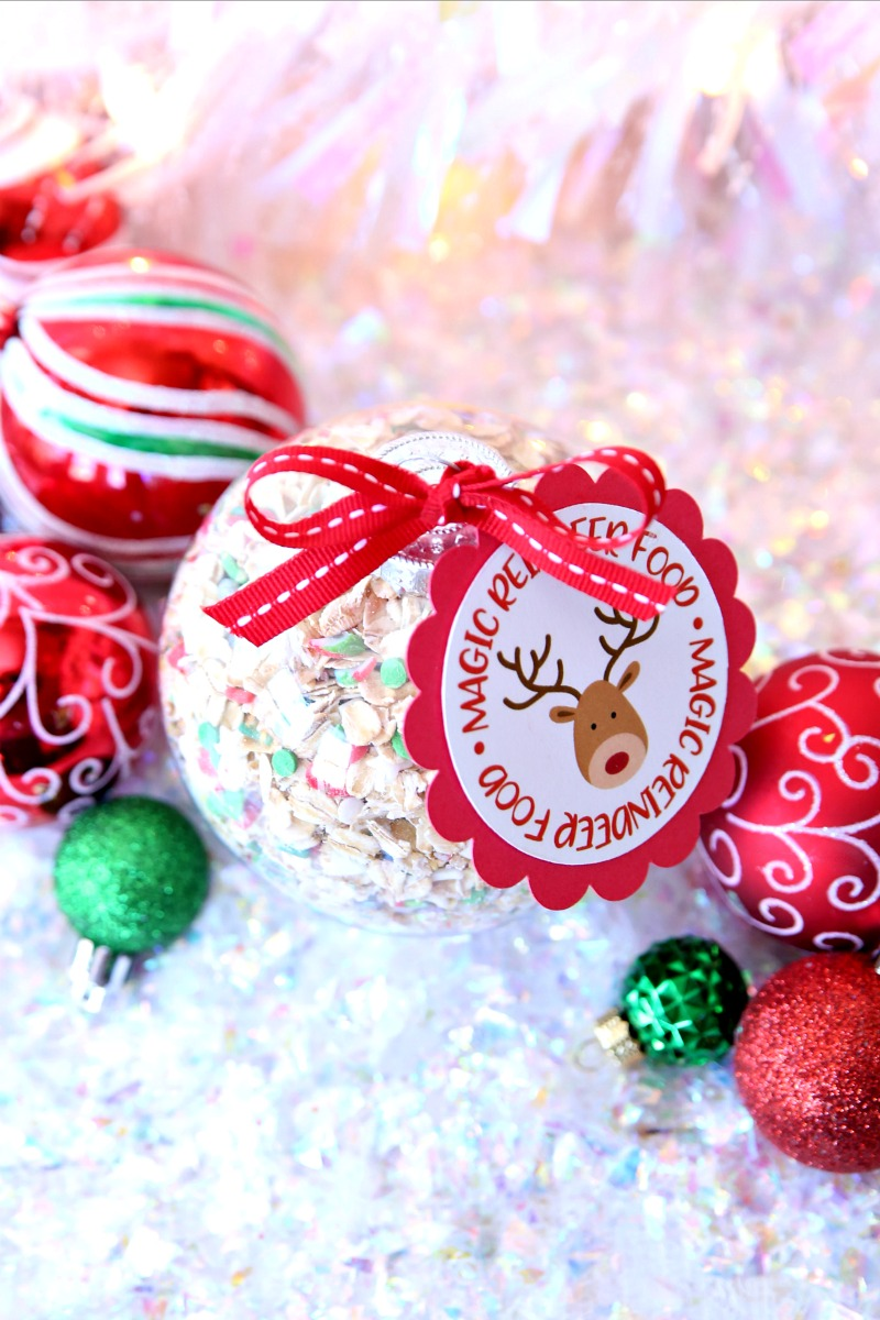 Magic Reindeer Food Ornaments and Gift Tags - Free Printable