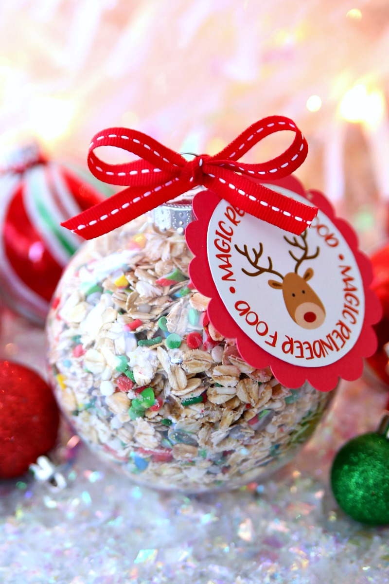 Magic Reindeer Food Ornaments - A fun Christmas craft for kids.