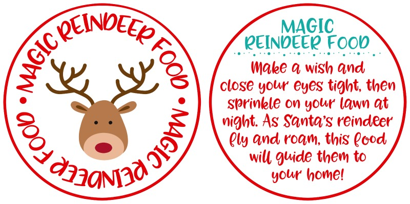 Magic Reindeer Food Free Printable Labels