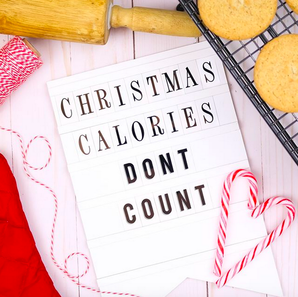 Christmas Letter Board - Christmas Calories Don't Count