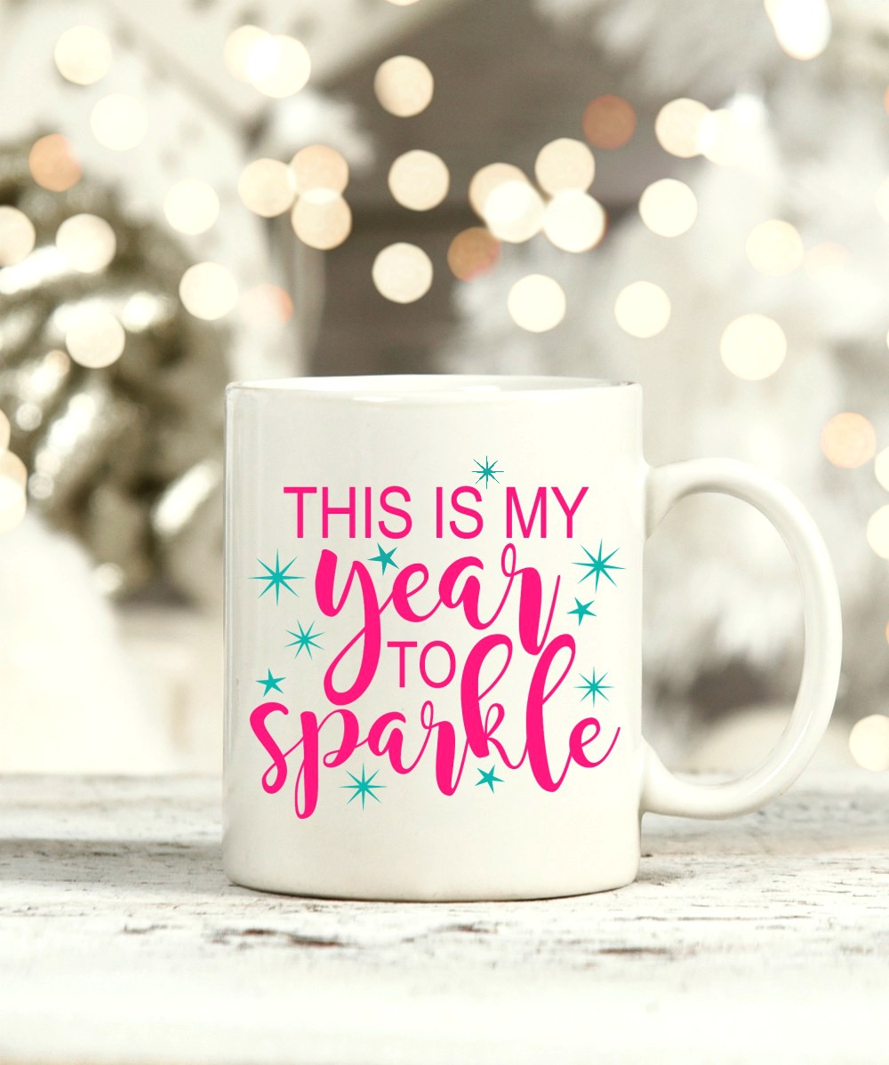 This is my year to sparkle mug