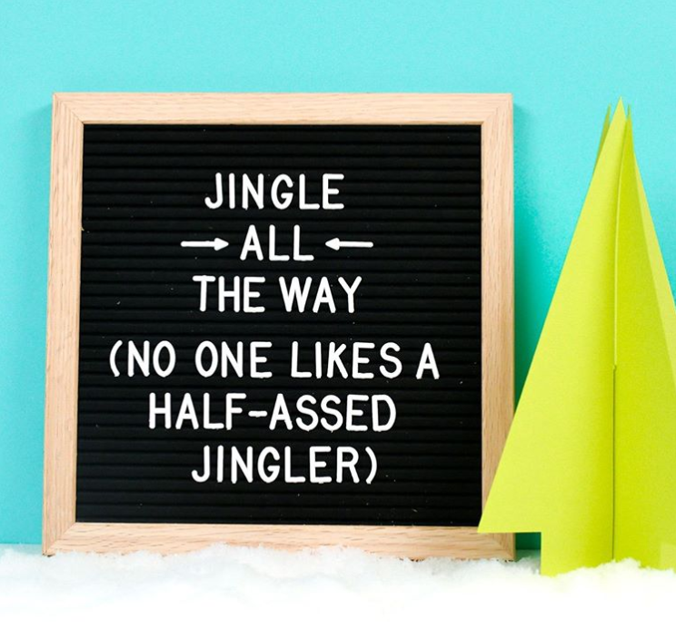 Holiday Letter Board Ideas Jingle all the way