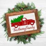 Free Vintage Christmas Truck Printables