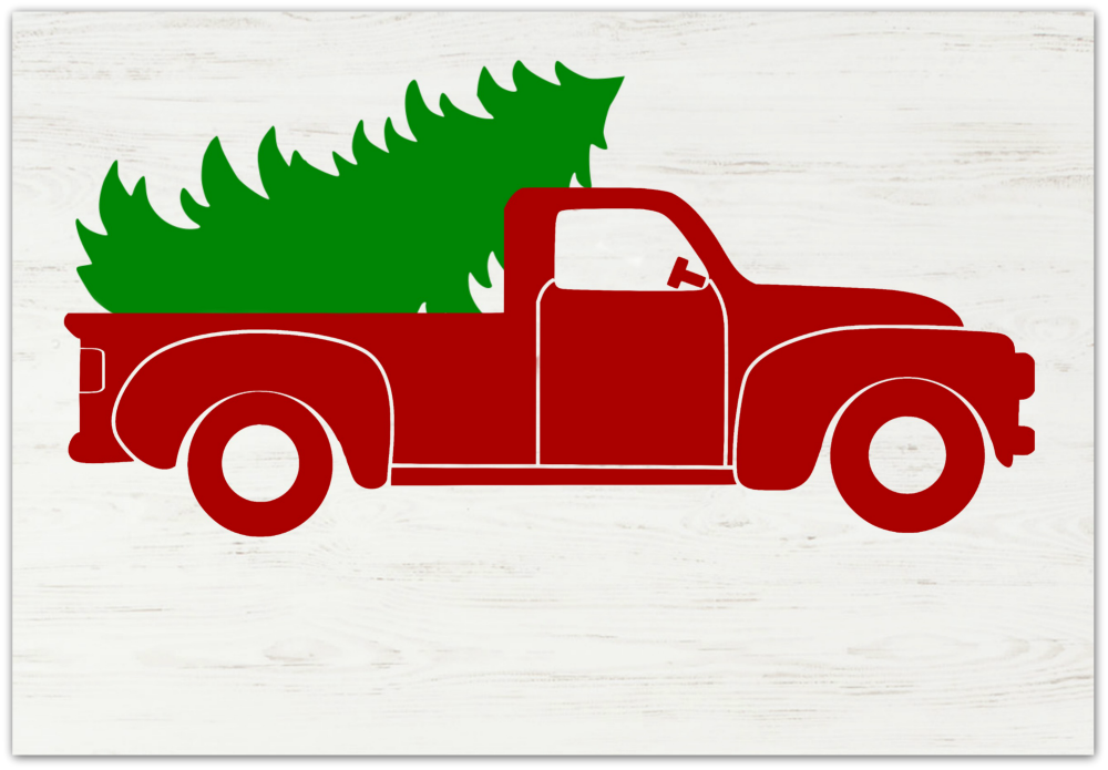 Christmas Truck Blank