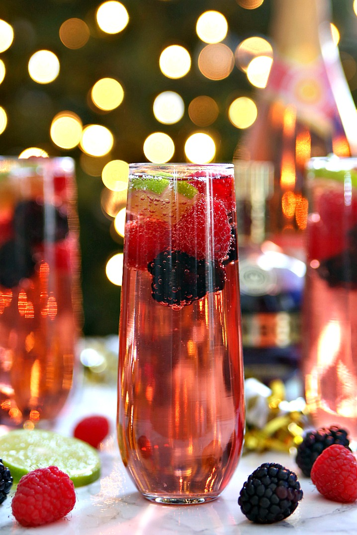 New Year's Eve Berry Champagne Punch