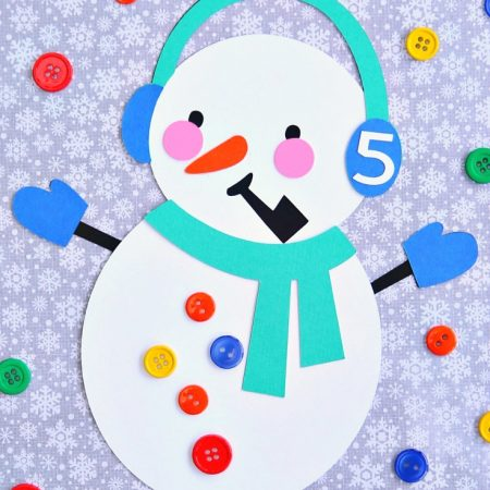 Snowman Counting Toddler Learning Activity