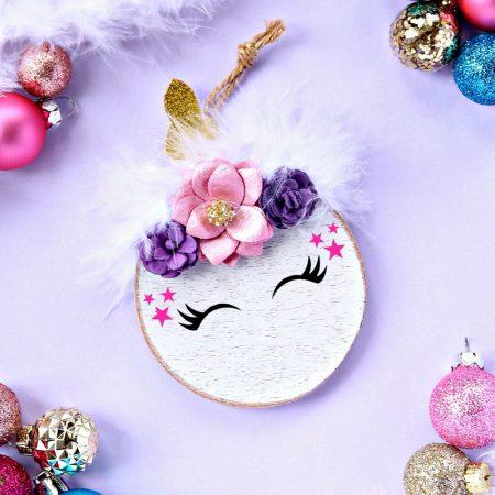 Gorgeous Unicorn Christmas Tree Ornaments.