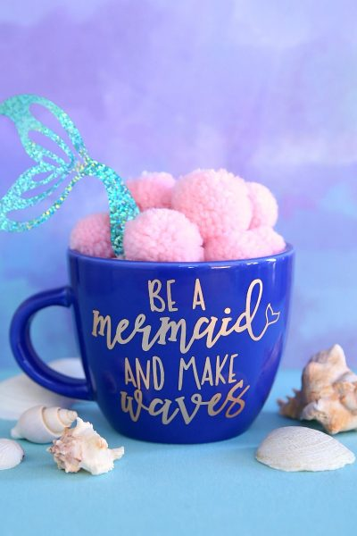 Be a mermaid and Make Waves mug using free cut file