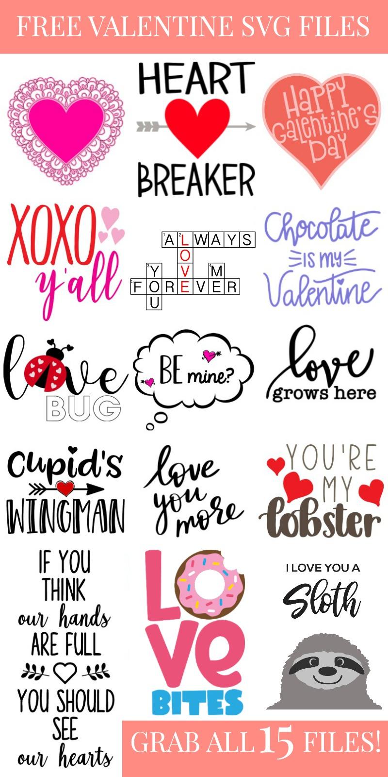 Valentine's Day SVG FILES COLLAGE