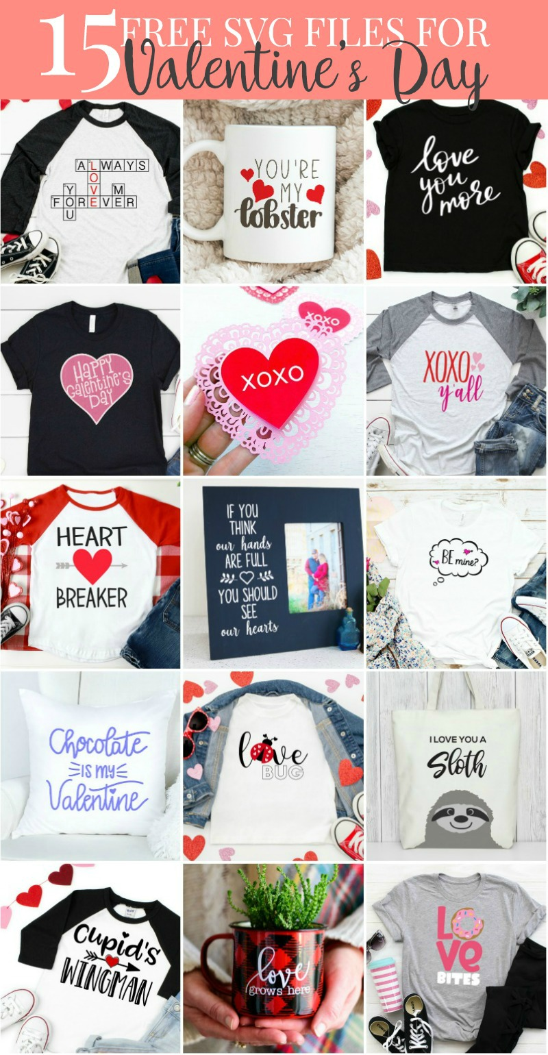 Valentine's Day SVG Cut Files Collection