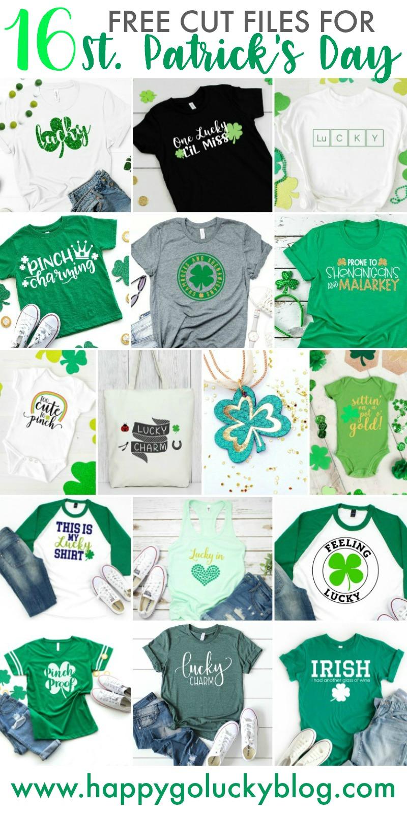 16 Free St. Patrick's Day Cut Files
