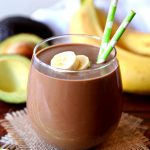 This creamy Avocado Chocolate Peanut Butter Smoothie recipe tastes just like a delicious milkshake. You won't even realize that it's actually a healthy smoothie.
