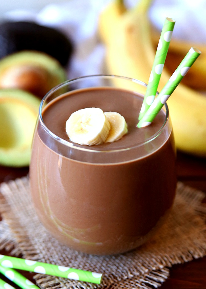 Avocado Chocolate Peanut Butter Smoothie is a rich and creamy smoothie that tastes just like a milkshake.