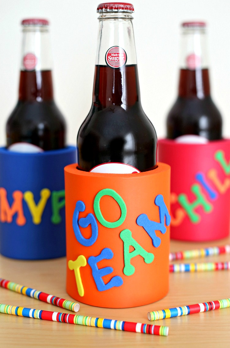 Decorate your own Koozies Super Bowl Craft