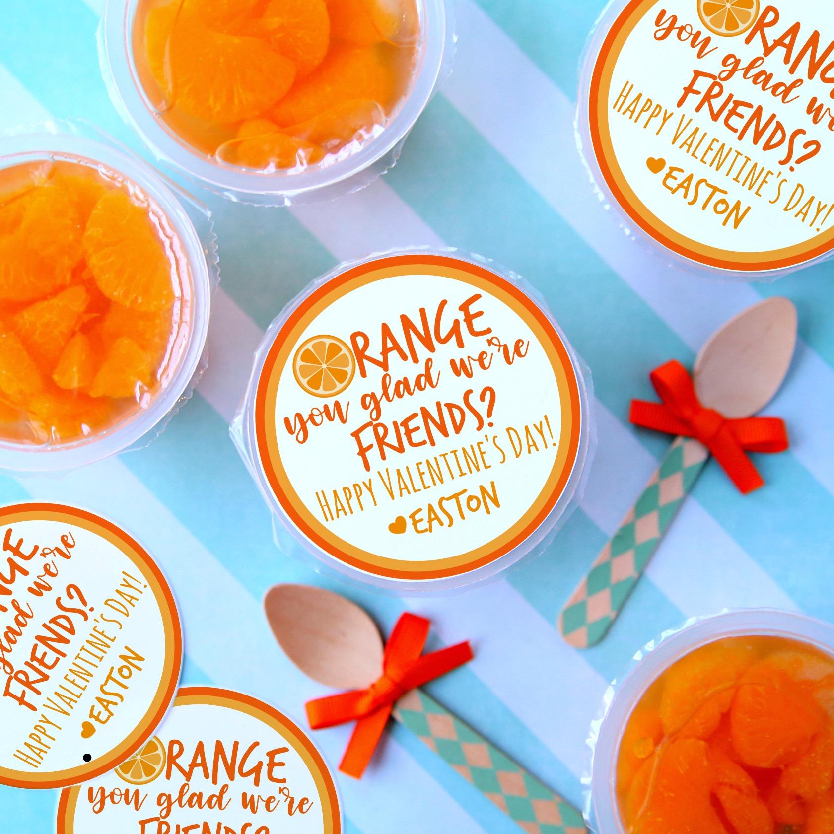 Non Candy Valentine Orange you glad we're friends?
