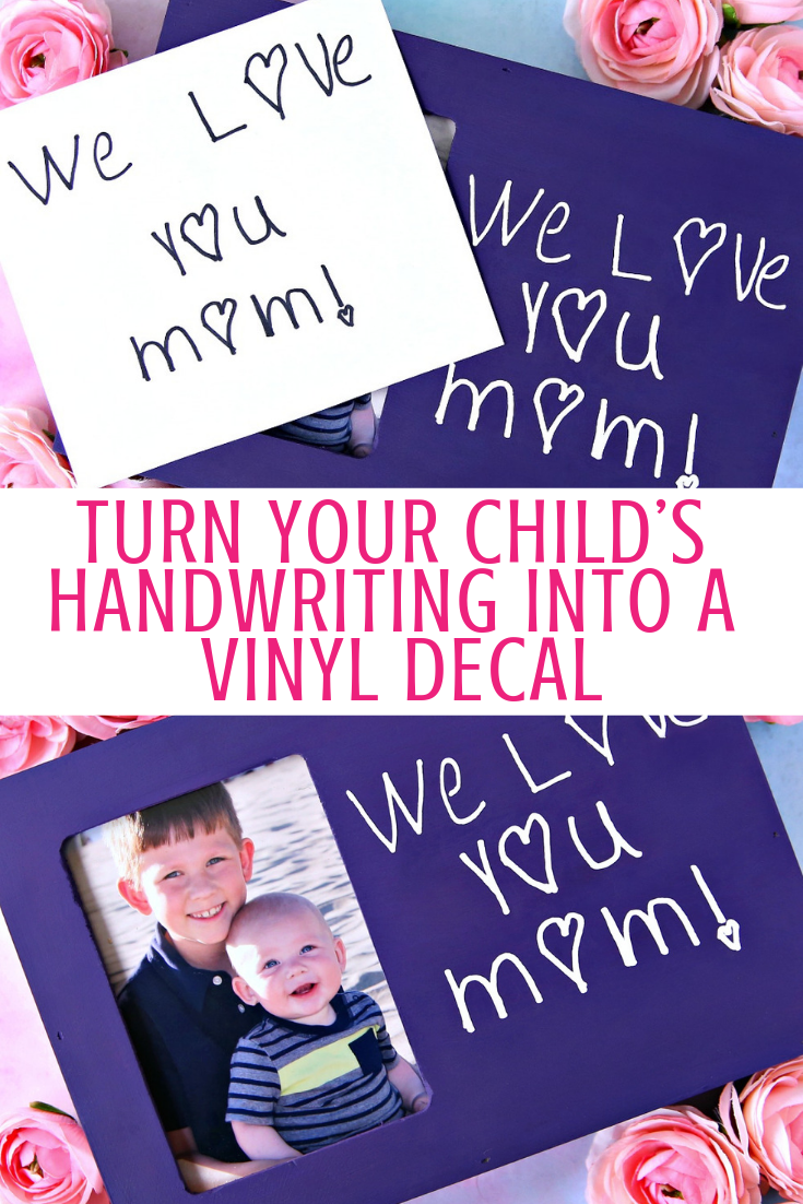 Personalized Handwritten message on picture.  GIft for Mom.