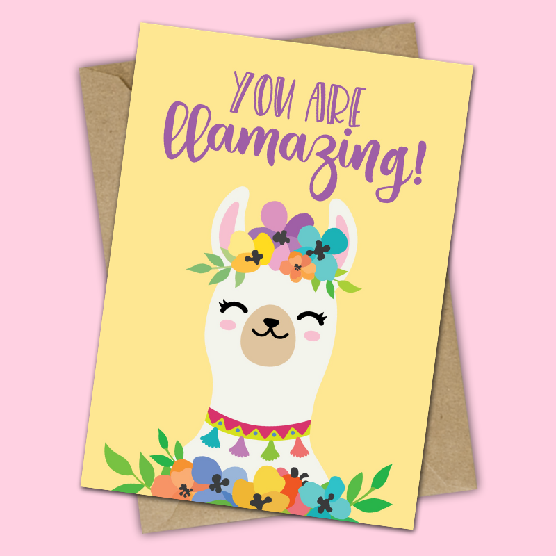 picture relating to Llama Printable identify Yourself are Llamazing - Cost-free Llama Printable - Joyful-Transfer-Privileged