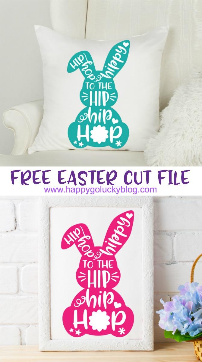 Free Easter Cut File Hip Hip Hop Bunny