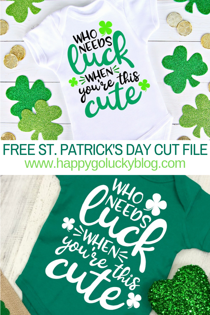 St Patrick's Day Cut File
