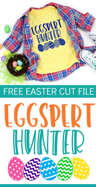 Eggspert Hunter {Free Easter Cut File}