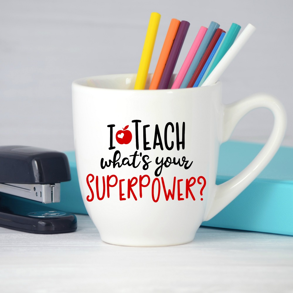 I teach what's your superpower Free SVG Cut File