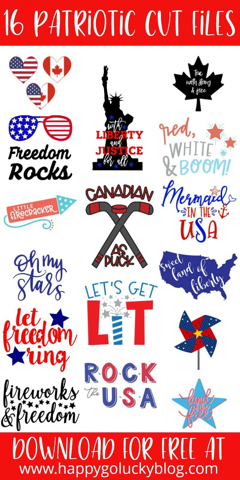 Patriotic Cut Files Collage