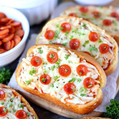 Garlic Bread Pizza - Turn garlic bread into delicious personal pizzas with this easy recipe