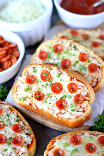 Garlic Bread Pizza - Turn garlic bread into delicious personal pizzas with this easy recipe