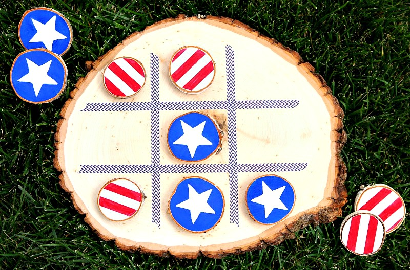 DIY 4th of July Tic Tac Toe Board Game 15 Minute Craft