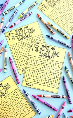 Have an Amazing Summer Free Printable Maze Cards