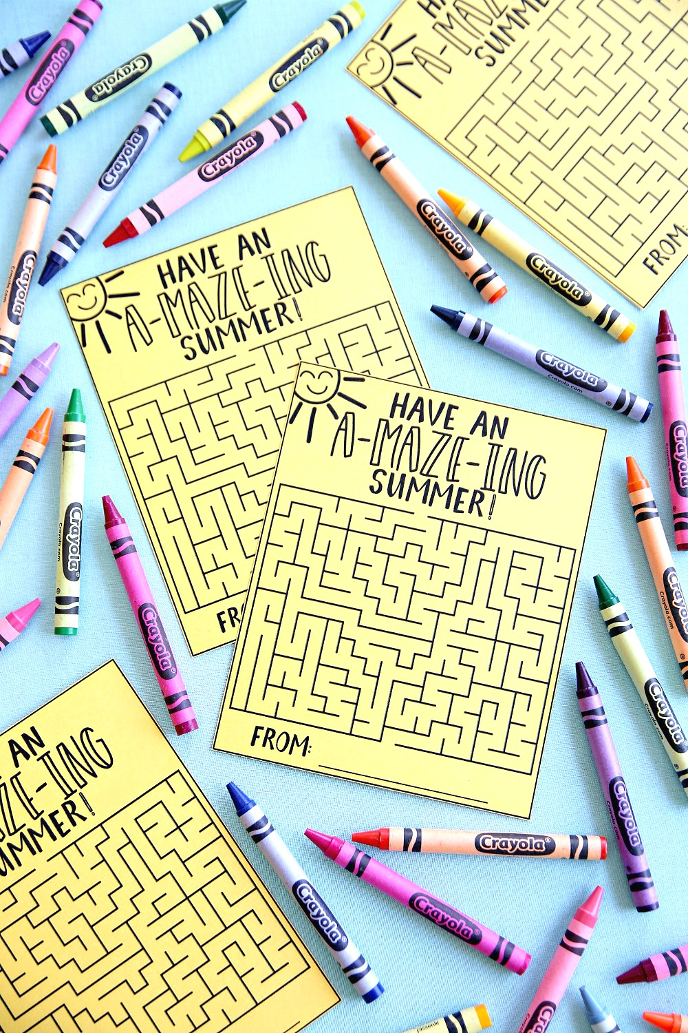 have an amazing summer maze cards free printable