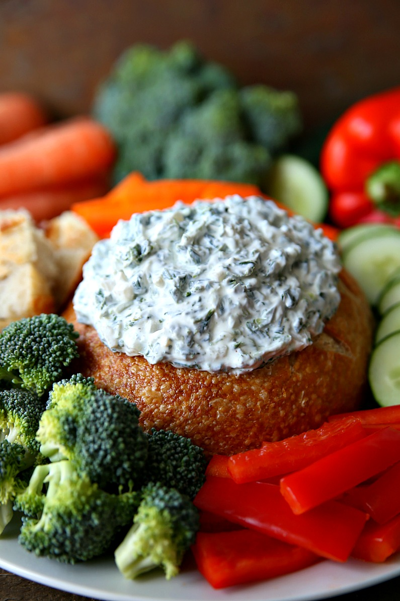 Ranch Spinach Dip - An easy, make-ahead appetizer that's full of flavor!