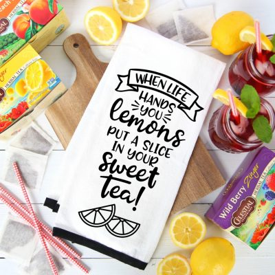 When life hands you lemons, Put a slice in your sweet tea SVG Cut File