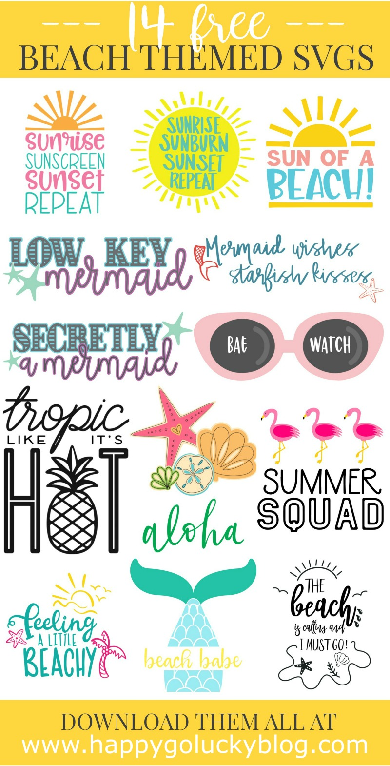 Beach SVG Cut File Collection