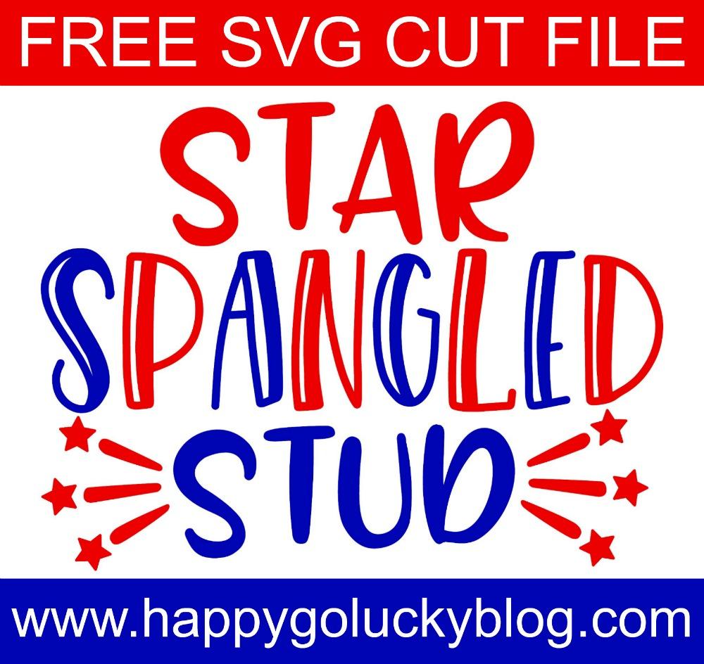 Star Spangled Stud Free SVG Cut File
