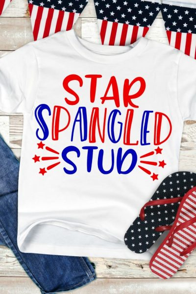 Star Spangled Stud SVG Cut File