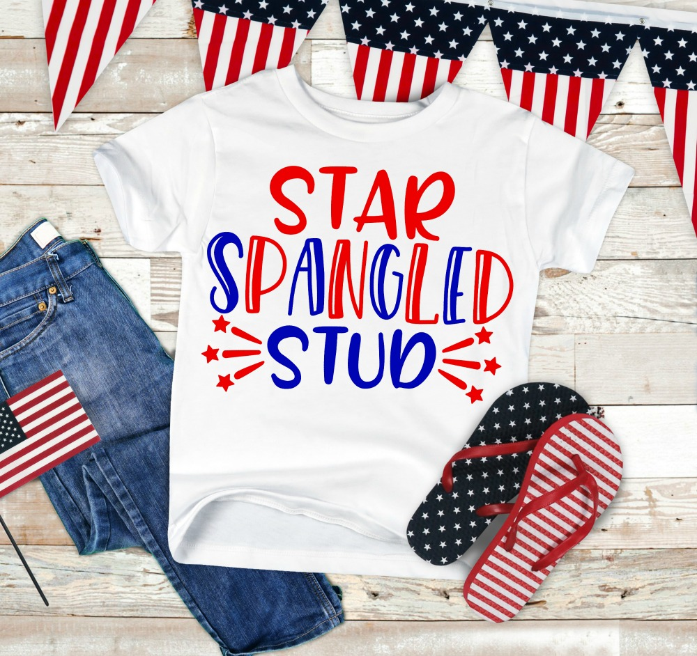 Star Spangled Stud SVG Cut File
