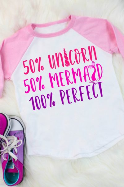 Unicorn Mermaid Perfect Shirt Mockup