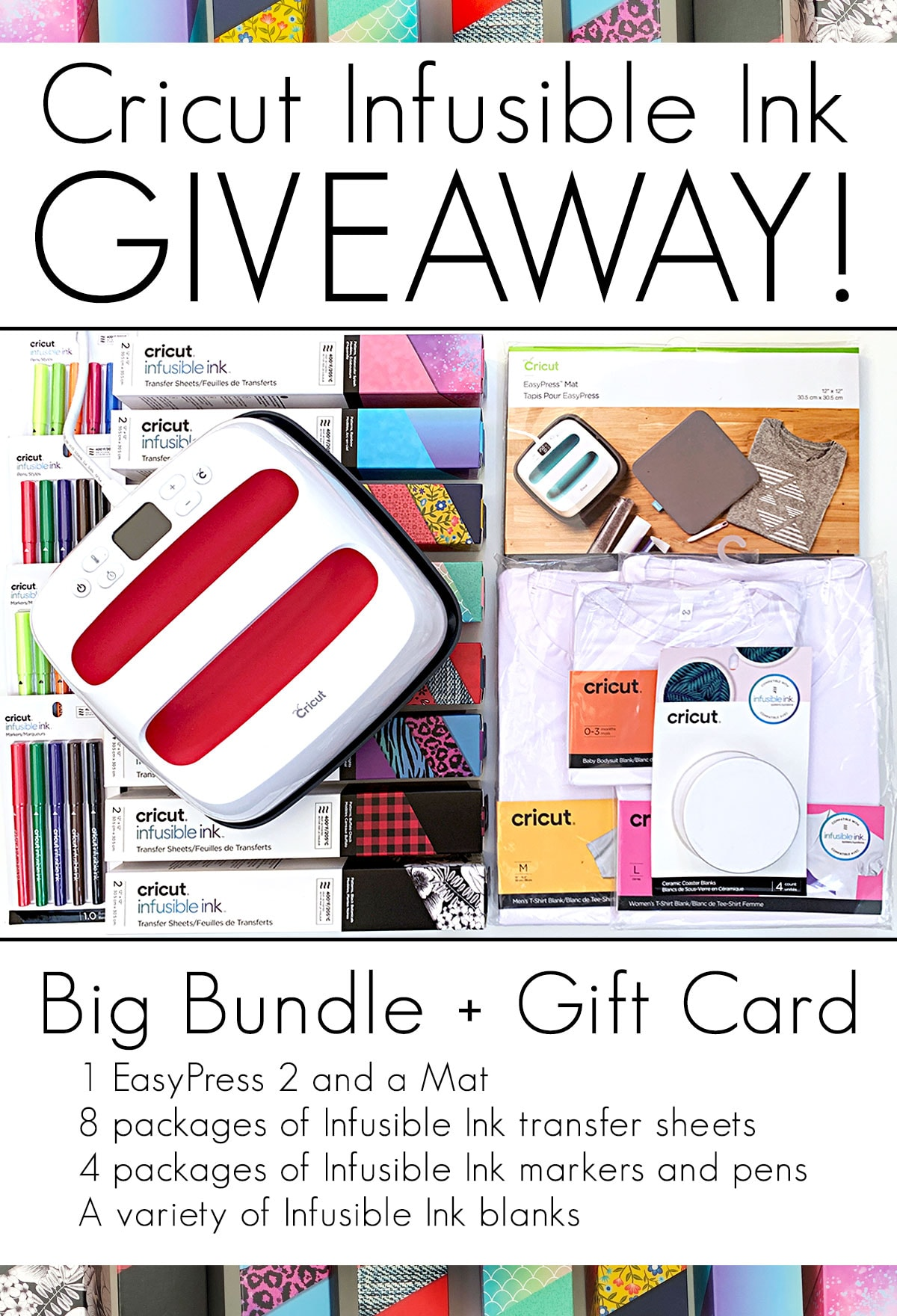 Cricut Infusible Ink Giveaway