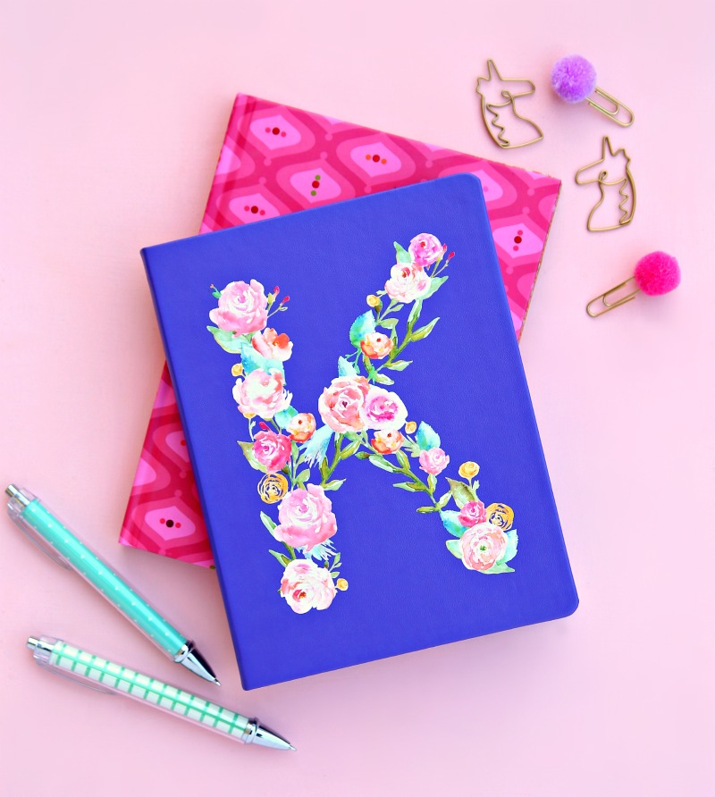 Print Cut Monogram Notebook