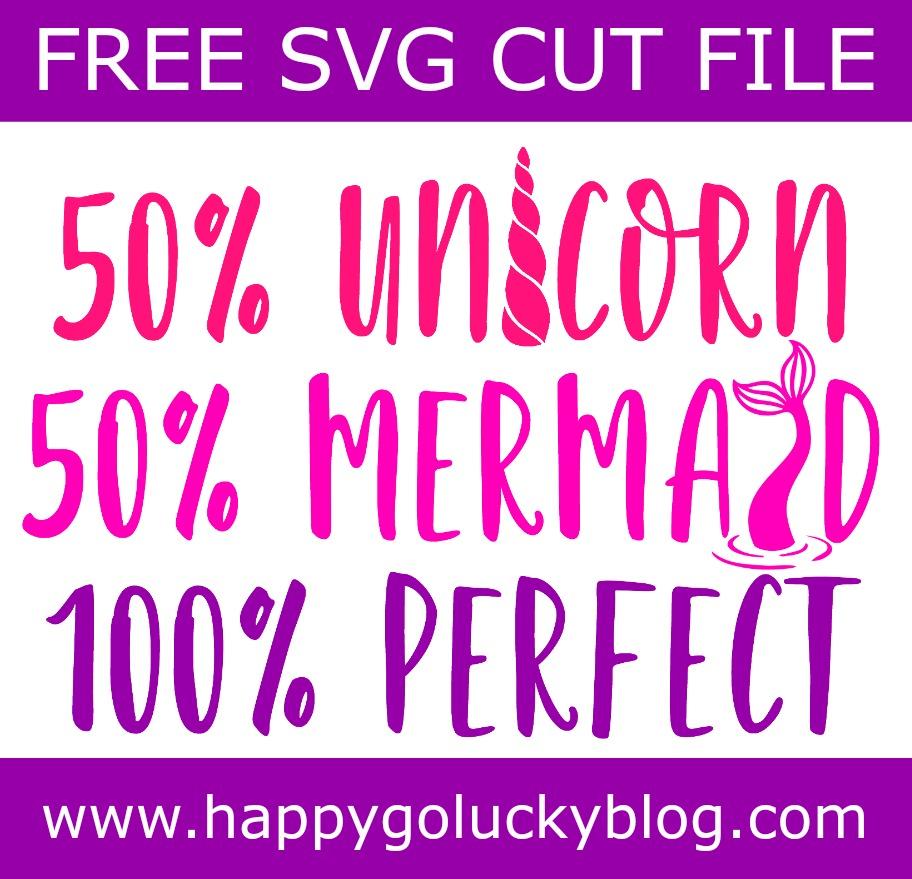Unicorn Mermaid Perfect SVG Cut File